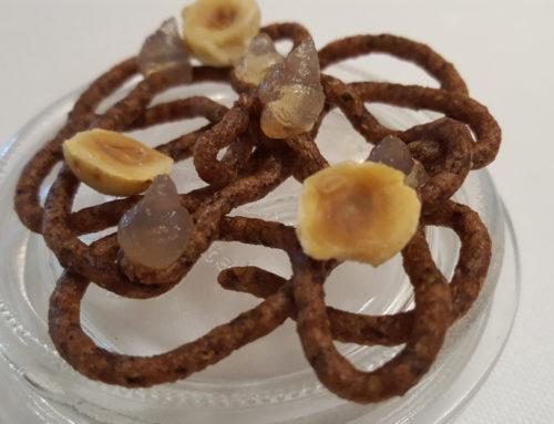 Frittelle di grano saraceno – gel di aceto – nocciole